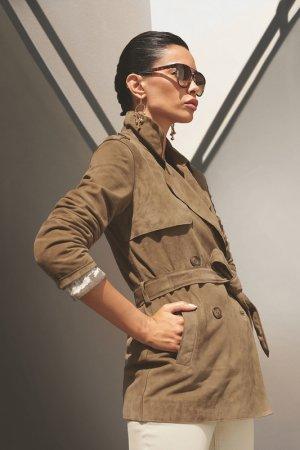 Куртка кожаная Madeleine. Цвет: tabak