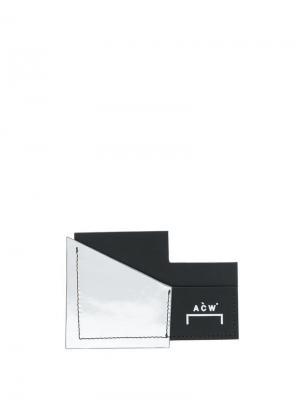 Картхолдер с тиснением A-COLD-WALL*. Цвет: черный
