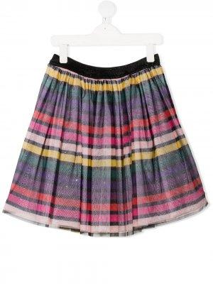 Расклешенная юбка в полоску SONIA RYKIEL ENFANT. Цвет: черный