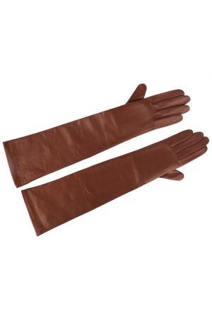Перчатки Agnelle. Цвет: коричневый