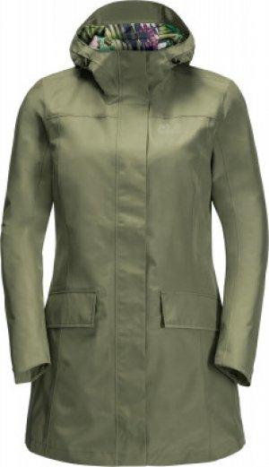 Куртка мембранная женская Jack Wolfskin Cape York Paradise, размер 46-48. Цвет: зеленый