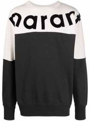 Logo-print two-tone sweatshirt Isabel Marant Étoile. Цвет: черный