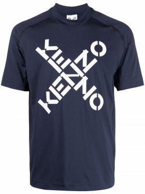 Футболка Sport Big X Kenzo. Цвет: синий