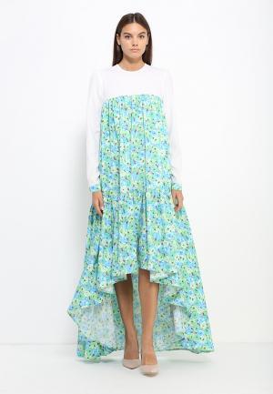 Платье Sahera Rahmani Паллет. Цвет: разноцветный