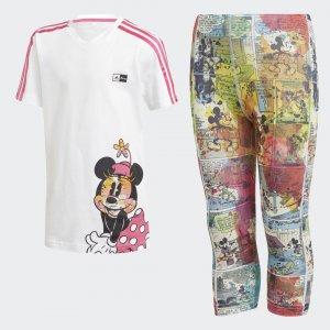 Летний комплект: платье и леггинсы Minnie Mouse Performance adidas. Цвет: черный