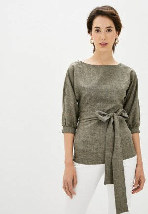 Блуза Maurini. Цвет: коричневый