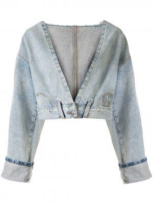 Укороченная джинсовая куртка Haculla. Цвет: синий