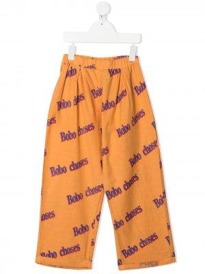 Широкие брюки с логотипом Bobo Choses. Цвет: оранжевый