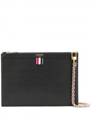 Маленький чехол для планшета с цепочкой Thom Browne. Цвет: черный