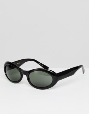 Черные солнцезащитные очки кошачий глаз Reclaimed Vintage. Цвет: черный
