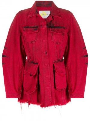 MarquesAlmeida приталенная джинсовая куртка Marques'Almeida. Цвет: красный