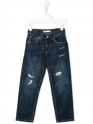 Levis Kids джинсы кроя слим с эффектом потертости Levi's. Цвет: синий