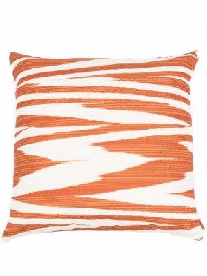 Подушка с узором зигзаг Missoni Home. Цвет: коричневый