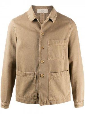 Легкая куртка с карманами Maison Flaneur. Цвет: нейтральные цвета