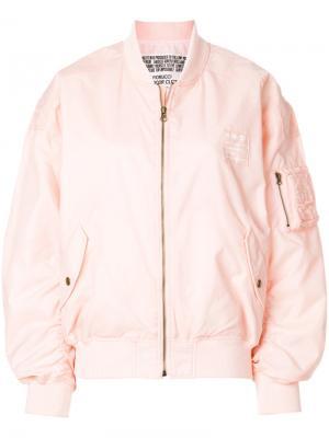 Куртка-бомбер Lou с принтом логотипа Fiorucci. Цвет: розовый