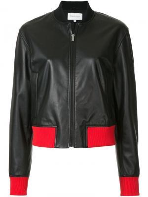 Куртка-бомбер с контрастной отделкой Ck Calvin Klein. Цвет: черный