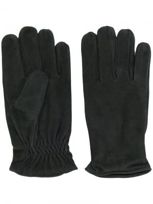 Кожаные перчатки Lardini. Цвет: зелёный