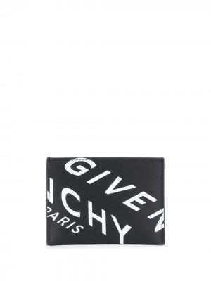 Картхолдер с логотипом Givenchy. Цвет: черный