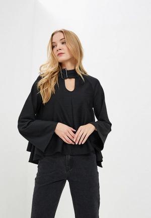 Блуза Lost Ink HIGH LOW HEM TOP. Цвет: черный