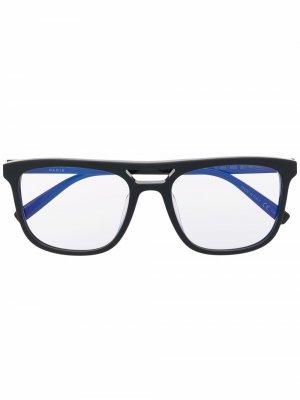 Очки SL 455 в квадратной оправе Saint Laurent Eyewear. Цвет: черный