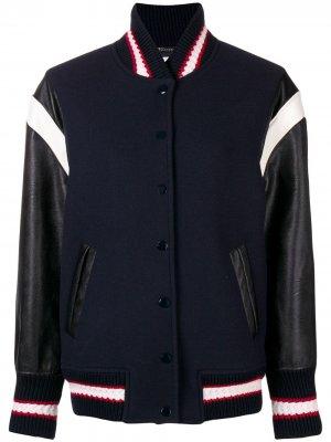 Куртка-бомбер на пуговицах Stella McCartney. Цвет: синий