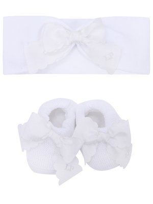 Комплект из пинеток и повязки La Perla. Цвет: белый