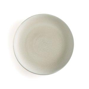 Комплект из 4 плоских тарелок LaRedoute. Цвет: зеленый