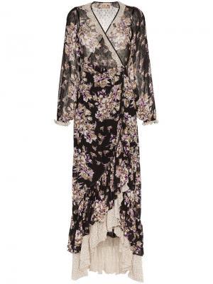 Платье с запахом и цветочным принтом byTiMo