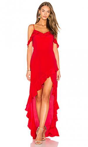 Макси платье peony Amanda Uprichard. Цвет: красный
