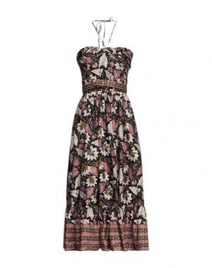 Платье миди ALEXIS. Цвет: черный