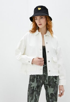 Куртка джинсовая Befree Exclusive online. Цвет: белый