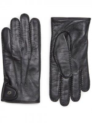 Перчатки с логотипом Ermenegildo Zegna. Цвет: черный