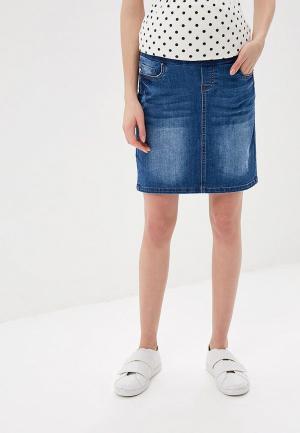 Юбка джинсовая Mamalicious. Цвет: синий