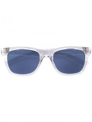Солнцезащитные очки в квадратной оправе Italia Independent. Цвет: телесный