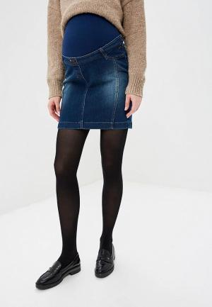 Юбка джинсовая BuduMamoy. Цвет: синий