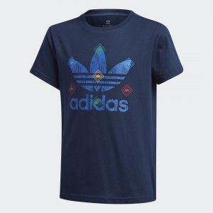 Футболка Originals adidas. Цвет: разноцветный