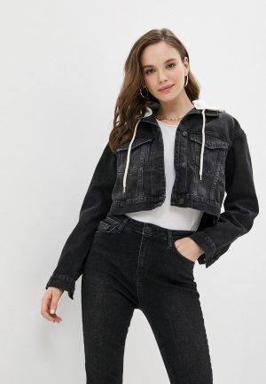 Куртка джинсовая Cracpot. Цвет: черный