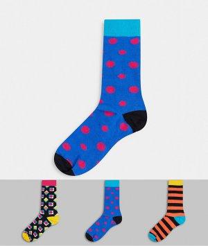 Подарочный набор из 3 пар носков HS By -Мульти Happy Socks