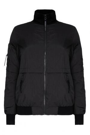 Черная ветровка с карманами ZASPORT. Цвет: черный