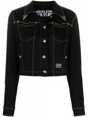 Джинсовая куртка Versace Jeans Couture. Цвет: черный