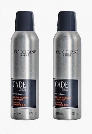 Набор для бритья LOccitane L'Occitane Можжевельник, 2*150 мл. Цвет: прозрачный