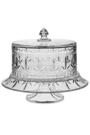 Тарелка для торта на ножке CRYSTAL BOHEMIA. Цвет: прозрачный