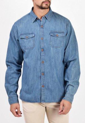 Рубашка джинсовая Mavango. Цвет: голубой