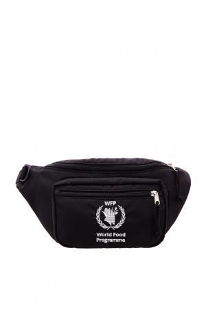 Поясная сумка World Food Programme Balenciaga Man. Цвет: черный