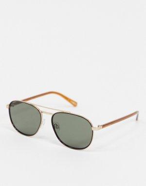 Золотистые солнцезащитные очки-авиаторы -Золотой Ted Baker