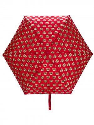 Зонт Mini Teddy Moschino. Цвет: красный