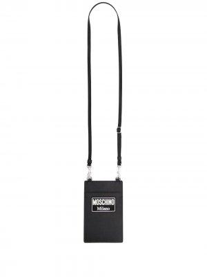 Картхолдер со шнурком на шею Moschino. Цвет: черный