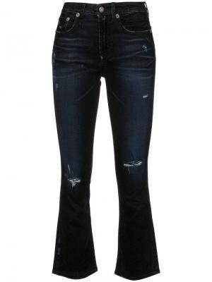 Расклешенные джинсы скинни с прорванными деталями R13