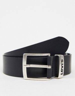 Черный кожаный ремень Levis-Черный цвет Levi's