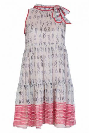 Платье Valentino Red. Цвет: белый